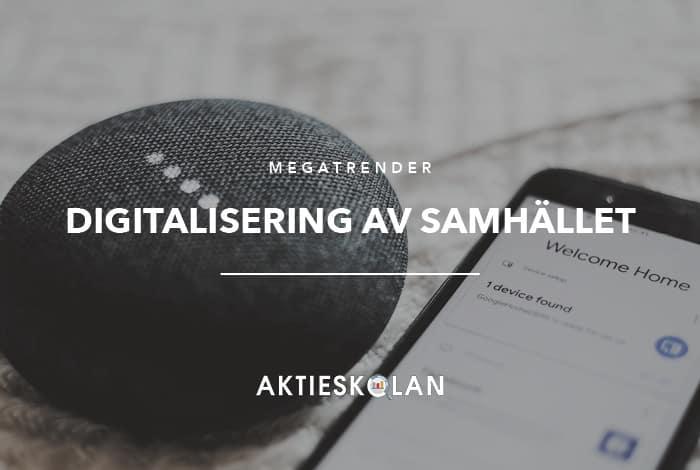 Megatrender - digitalisering av samhället IoT