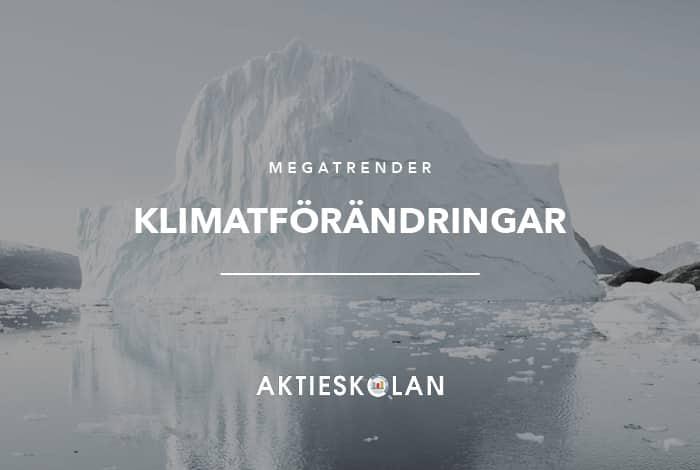 Megatrender - klimatförändringar
