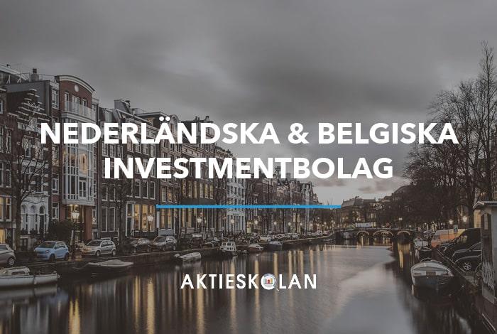 Nederländska och belgiska investmentbolag