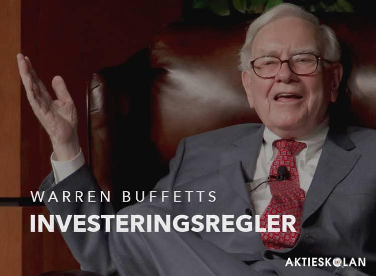 Warren Buffett investeringsregler