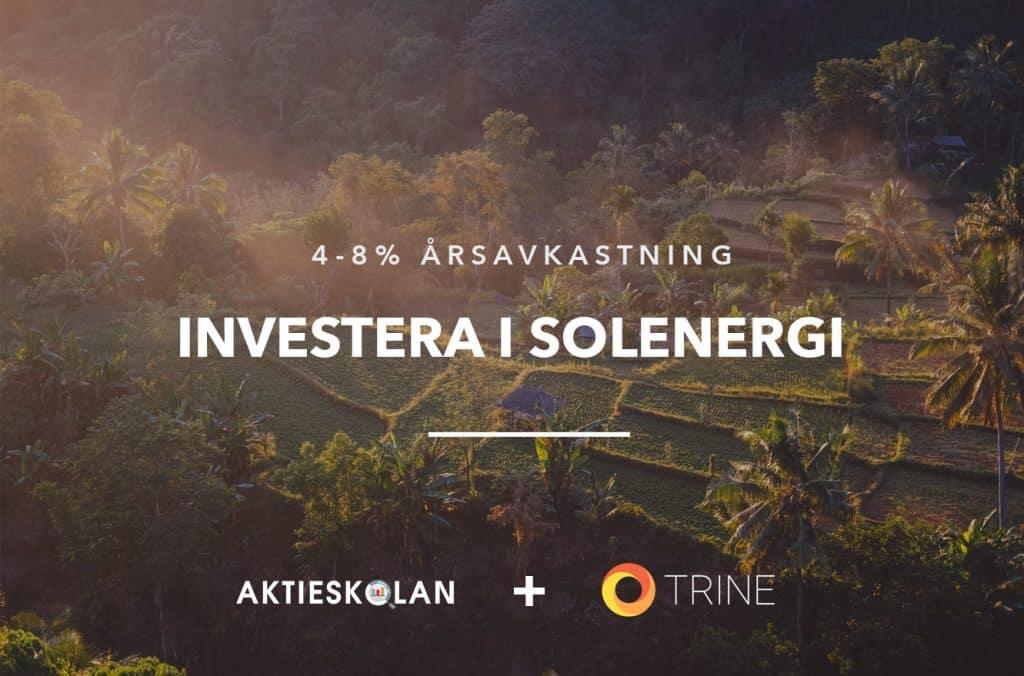 Trine-investera i solenergi och solceller