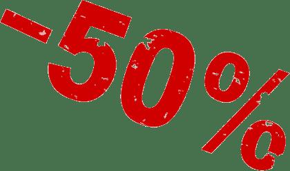 50 rabatt